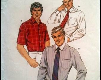 Kwik Sew Pattern 1417  Men's Fitted Shirt  Size (42-48)