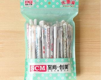 Set of 50 Pen lots Gift pack Drawing writting gel marker pen stationery scrapbook gel pen rollerpen-ZXB018