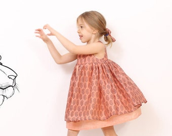 Nohara DRESS pattern - INSTANT DOWNLOAD - easy children sewing patterns