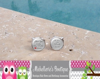 Personalized Thank you for being an amazing big brother Cuff Links,Brother of the Bride Cuff Links,Custom Wedding Party Gifts,Gifts for Dads