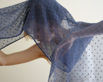 Blue Scarf Sheer blue scarf Blue shawl Light blue wrap blue evening wrap Blue evening shawl Wedding shawl wrap bridesmaids gift GALE