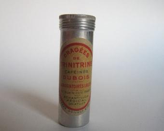 vintage pharmaceutical aluminium box dragées de trinitrine