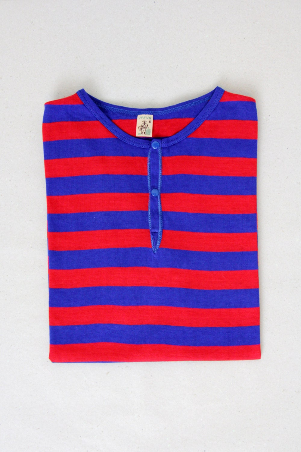 Vintage tshirt blue and red striped shirt sailor shirt for Red blue striped shirt