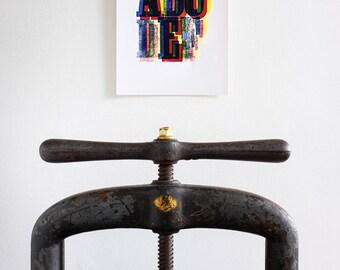 Letterpress - ABCDEF