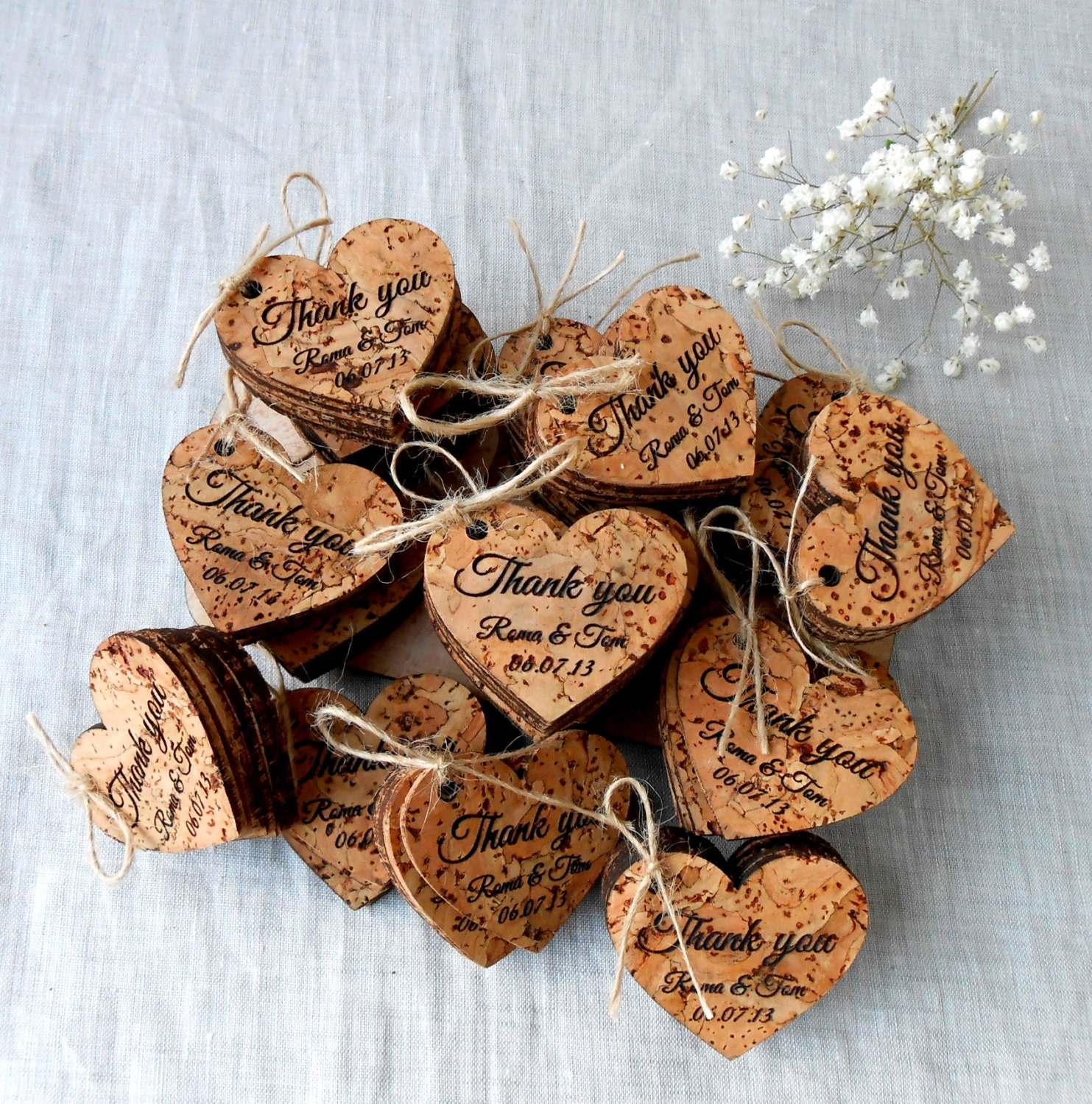 Wedding Favor Tags Rustic : Wedding favor tags rustic personalized favor tags custom
