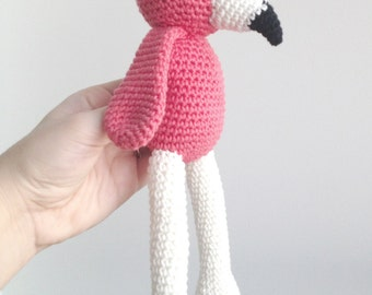 Flamingo Plush, Flamingo Stuffed Animal, Flamingo Plushie, Flamingo Stuffed Toy, Crochet Flamingo