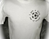 SALE New T-shirt Soccer Embroidered 100% Cotton Ready to Ship S M XL