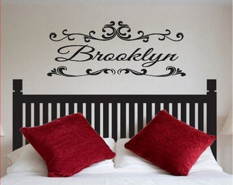 Personalized Headboard Name Decal, Monogram