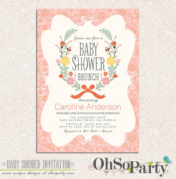 Baby shower brunch invitation wording diabetesmangfo watch more like baby shower luncheon invitations baby shower filmwisefo