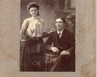 Antique Photo of Nice Young Couple