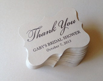 Wedding Favor Tags, Party Favor Tags, Thank You Tags, Gift Tags, Bridal Shower Tags, Custom Wedding Tags