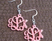 Custom Monogram Acrylic Earrings 3 Letters Monogram Gift
