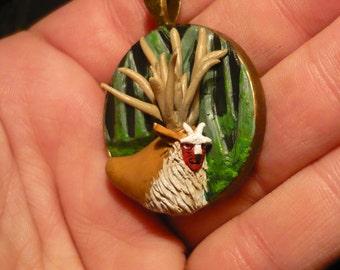 Princess Mononoke: Shishikami - handsculpted pendant