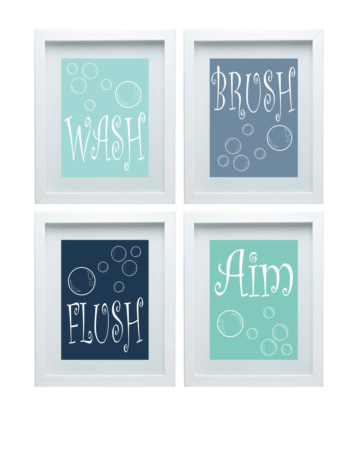 Kids bathroom rules boys bathroom art boys bathroom decor wall for Bathroom decor rules
