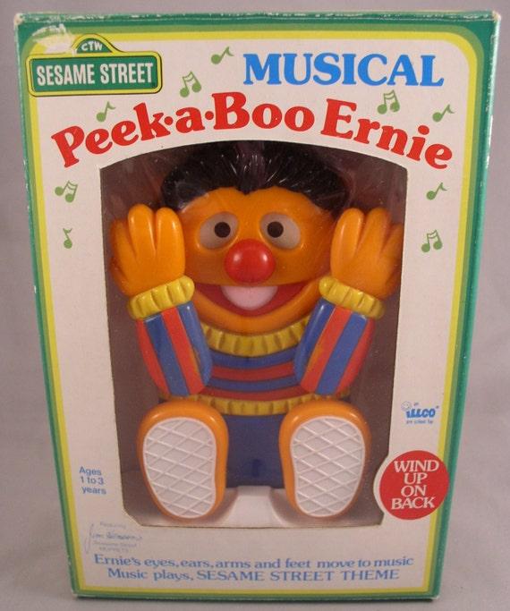 Sesame Street Musical Toys : Sesame street musical peek a boo ernie wind up by illco