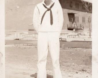 Hey Sailor Boy! Vintage Photo Postcard