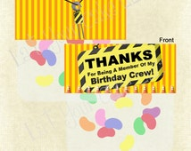 Construction Themed Party Favor Topper (Immediate Download)