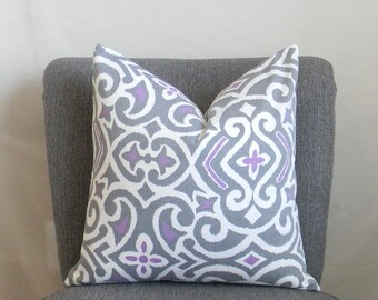 CLEARANCE SALE!  75% OFF!  Gray and Lavender Pillow Cover, 18 x 18 Pillow Cover
