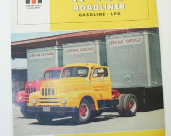 1950s Vintage International Harvester R-185 Roadliner Brochure - Original Truck Brochure