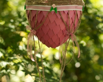 Dragon Egg Hot Air Balloon Pink With Little Flowers