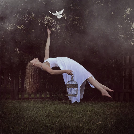 Set Me Free - LIMITED EDITION, Matted Print, Surreal, Whimsical, Fine Art Photography