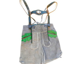 VTG 70's austria suede pair of shorts KIDS //Child's Lederhosen from Austria