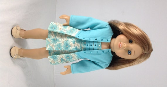 Dress and jacket for american girl isabelle mckenna saige and lanie