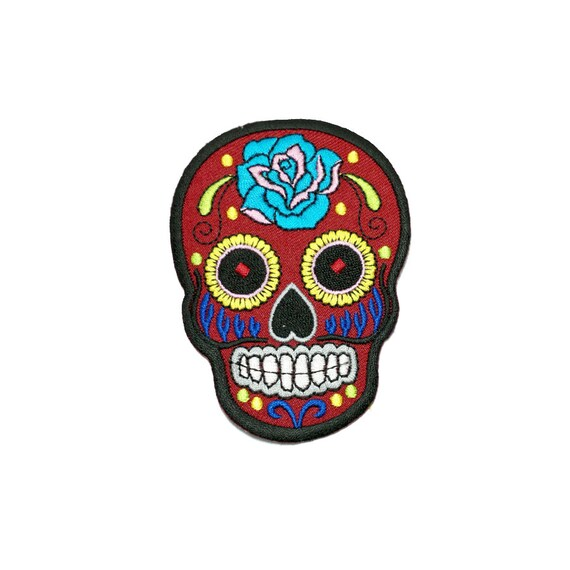 Skull Patch Red Sugar Skull Patch /Skull Iron by ...