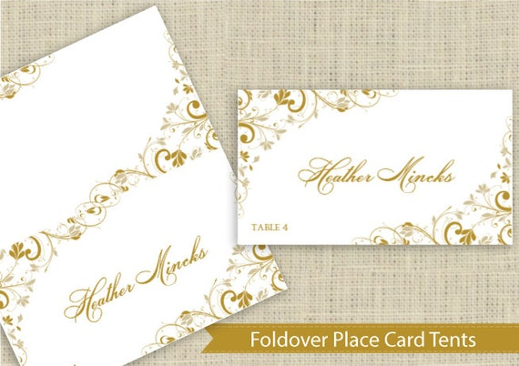 Wedding Place Card Instant DOWNLOAD EDITABLE By KarmaKWeddings