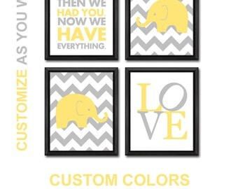 baby nursery decor elephant, first we had baby boy nursery ideas, elephant baby shower, boys room decor, nursery wall art, new baby gift