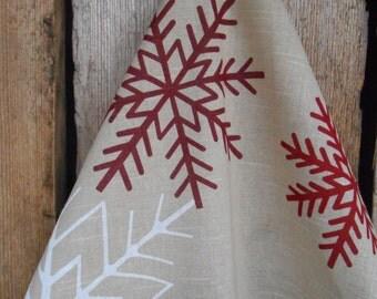 Christmas Tea Towel Kitchen Towel Christmas Decor Snowflakes Ornament Hand Towel Christmas Gift Swedish Christmas