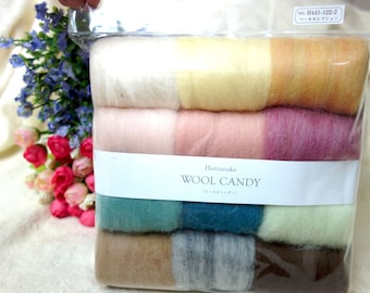 Hamanaka - Japan Wool Needle Felting Crafts Candy 12 color Set  H441-122-2