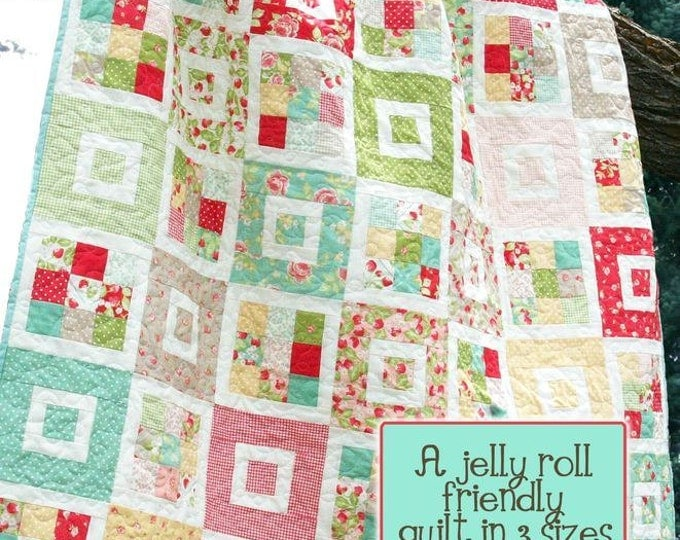 Shortcake Quilt Pattern #122 by Cluck Cluck Sew - Jelly Roll Friendly in 3 Sizes - Fast and Easy Beginner (W745)