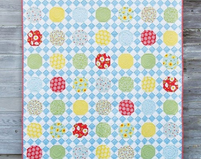 "Applejack Quilt Pattern #146 by Cluck Cluck Sew - Throw Size 60"" x 68"" - Fat Quarter Friendly Quilt Pattern (W2061)"