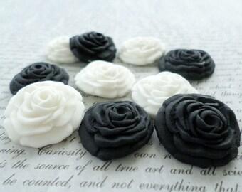 36 Sugar Flowers, Gumpaste Flowers, Edible Cupcake Flowers, Sugar Flowers for Cakes, Edible Flower, Fondant Cake Topper, Gothic Party Decor