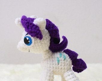 Amigurumi Crochet Dolls : My Little Pony Rarity Made to Order
