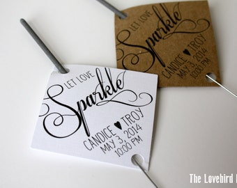 Printable Wedding Sparkler Tags -  Let Love Sparkle - Sparkler Send Off - AA3
