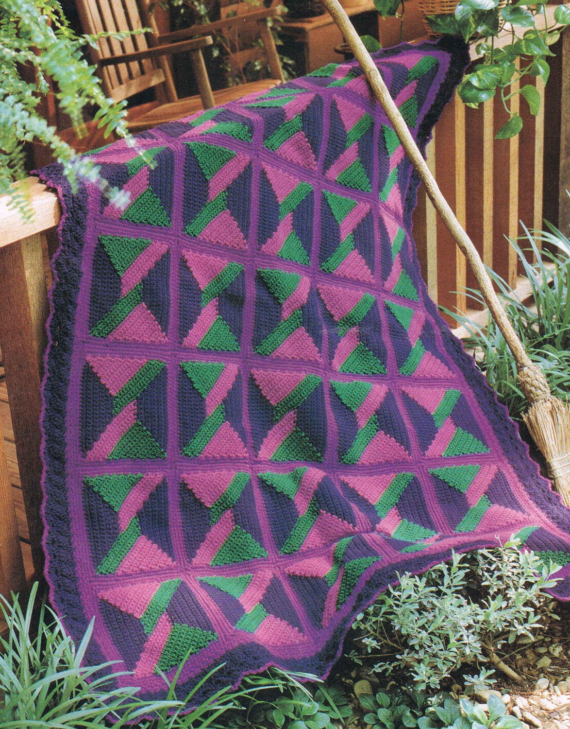 Crochet Pattern Quilt Inspired Afghan by BusyBeaverBoutique