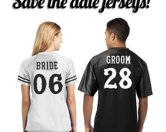 Bride & Groom Jerseys (Listing for 2 Jerseys)