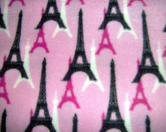 LARGE Eiffel Tower Paris France Fleece Blanket