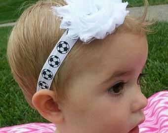 Soccer headband for baby, girls soccer headband for toddlers, football headband for babies