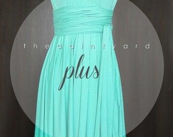 Plus Size Turquoise Bridesmaid Dress Convertible Dress Infinity Dress Multiway Dress Wrap Dress Wedding Dress Twist Dress Prom Dress