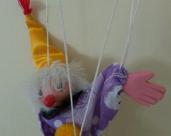 Vintage Wooden Puppet Clown