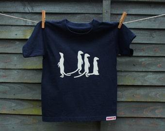 Kids Navy Meerkat t-shirt