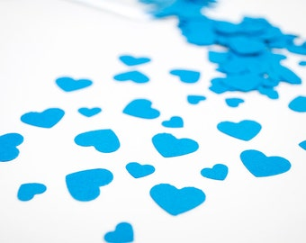 450 Light Blue HEART Confetti for WEDDING, Valentine Day, party decor, scrapbooking and decoration