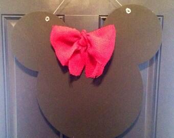 Minnie Mouse Wooden Door Hanger