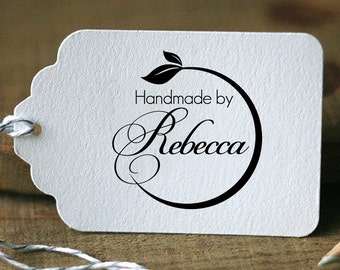 Personalized Custom Name Date Handmade Handcraft Handle Mounted Rubber Stamp OR Pre-inked Stamp R540