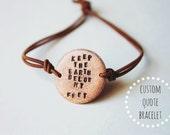 Custom Quote Bracelet (Circle)