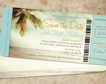 Beach save the date | Etsy