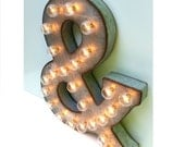 """Galvanized Metal Marquee Light Letter- 21"""""""